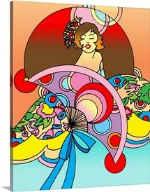 Art Deco Fan Lady