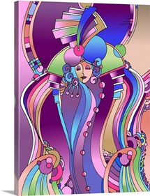 Art Deco Lady Bird
