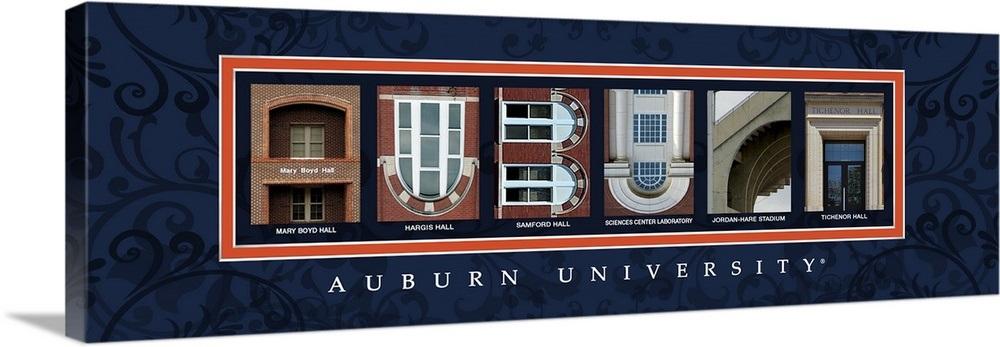 Auburn - Auburn University Campus Letters