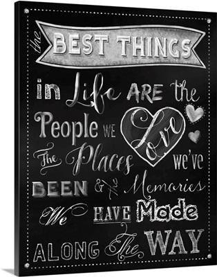 Best Things Chalkboard