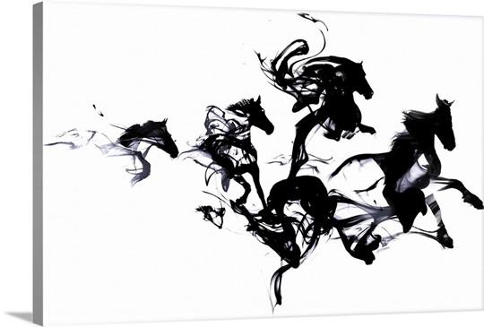 Black Horses Wall Art, Canvas Prints, Framed Prints, Wall Peels ...