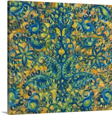Blue and Orange Swirls