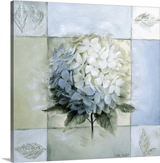 Hydrangea Wall Art blue hydrangea study i wall art, canvas prints, framed prints