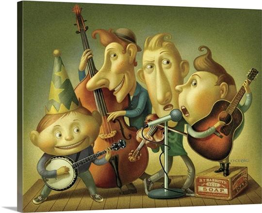 Bluegrass Boy Band Wall Art, Canvas Prints, Framed Prints, Wall ...