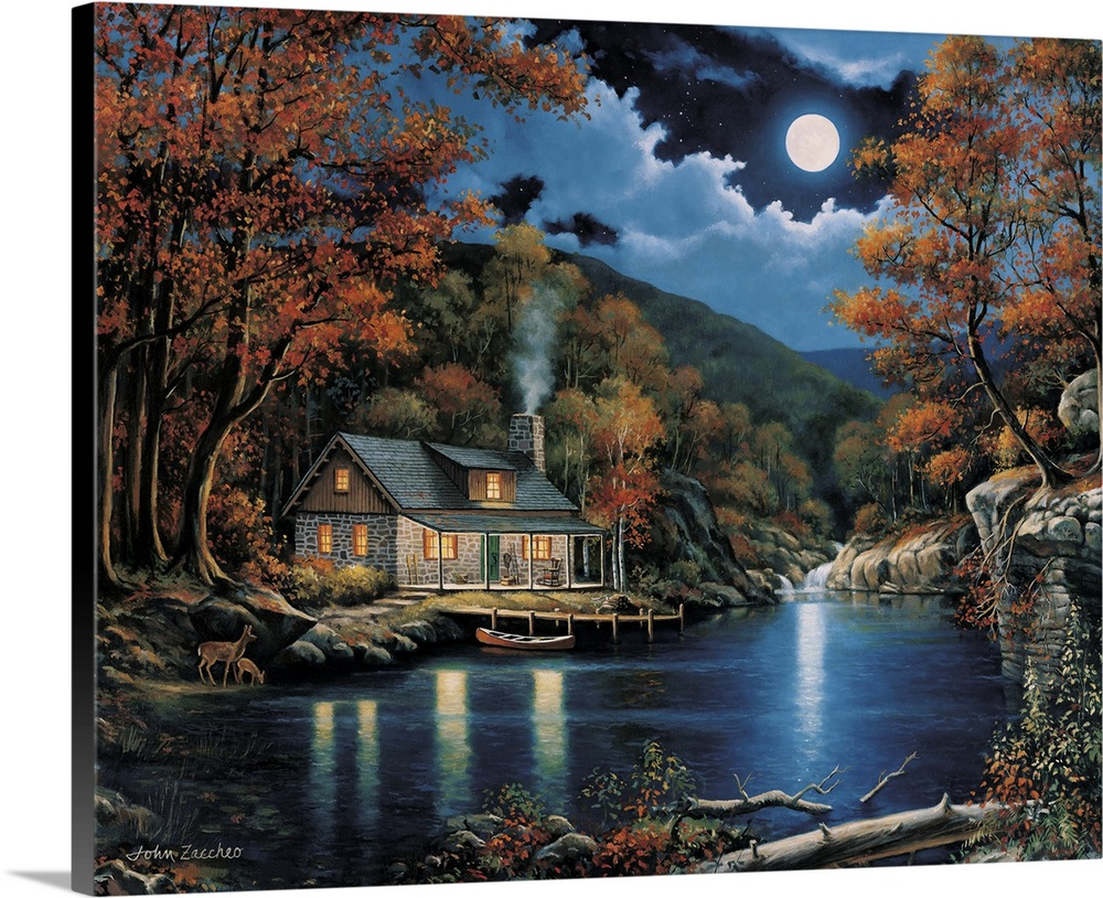 Cabin By The Lake Wall Art Canvas Prints Framed Prints Wall Peels Great Big Canvas
