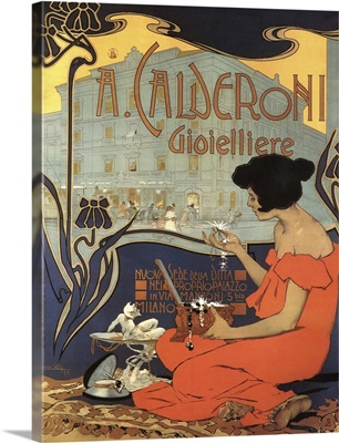 Calderoni - Vintage Jewelry Advertisement