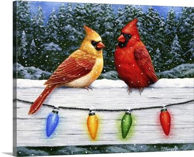 Christmas Cardinals Greeting Card