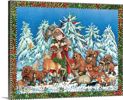 Christmas Scene with Santa