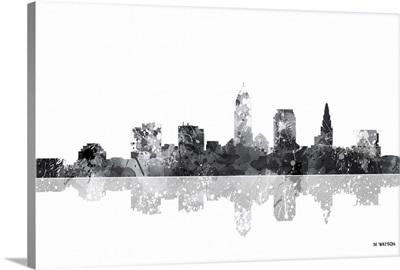 Cleveland Ohio Skyline BW I
