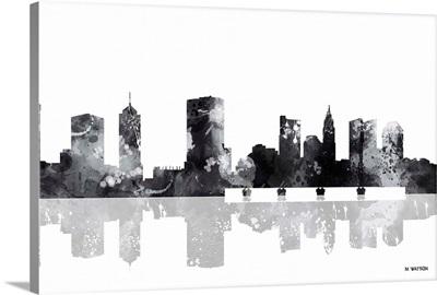 Columbus Ohio Skyline BW I