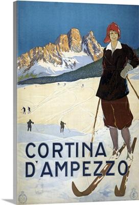 Cortina d'Ampezzo - Vintage Travel Advertisement