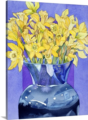 Daffodils In Cobalt
