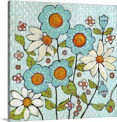 Daisy Blue Flowers