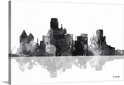 Dallas Texas Skyline BW I
