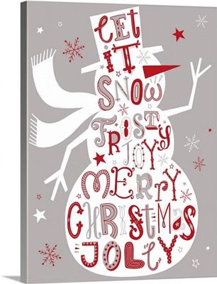 Festive Letters - Snowman