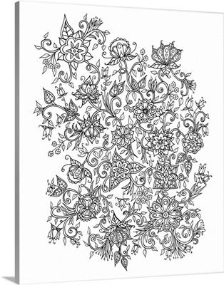 Flower Tangle I