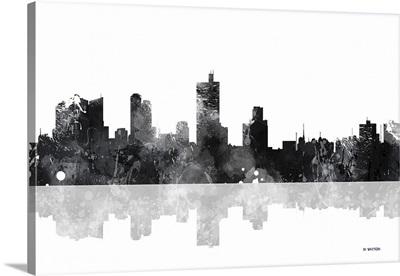 Fort Worth Texas Skyline BW I