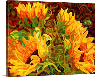 Four Sunflowers