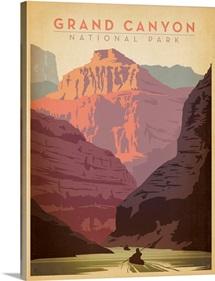 Grand Canyon National Park, Arizona - Retro Travel Poster
