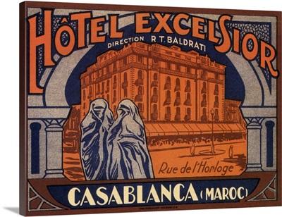Hotel Excelsior - Vintage Advertisement