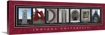 Indiana - Indiana University Campus Letters