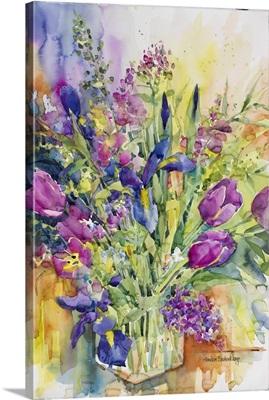Iris Blue And Tulips Too