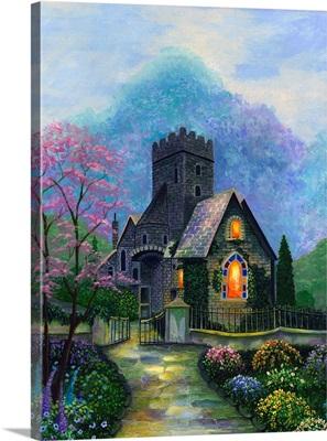 Irish Church And Garden
