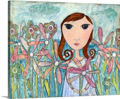Just One Flower Big Eyed Girl