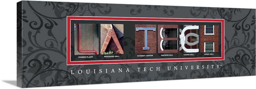 La Tech University >> La Tech Louisiana Tech University Campus Letters