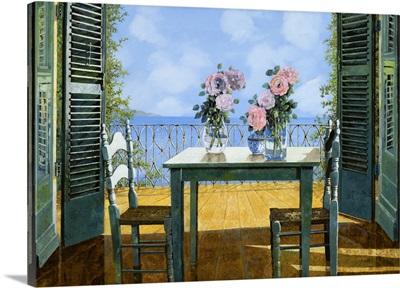 Le Rose E Il Balcone