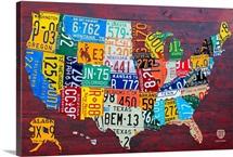United States Maps Wall Art & Canvas Prints | United States Maps ...