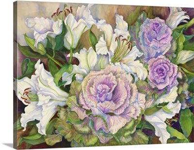 Lilies With Ornamental Cabbage