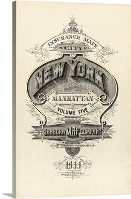 Manhattan, New York - Vintage Map Booklet