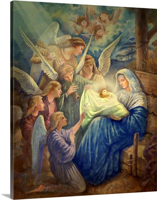 Jesus Wall Art mary and newborn jesus wall art, canvas prints, framed prints