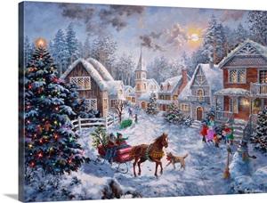 Merry Christmas Wall Art Canvas Prints Framed Prints