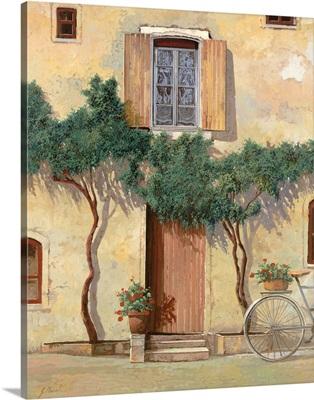Mezza Bicicletta Sul Muro