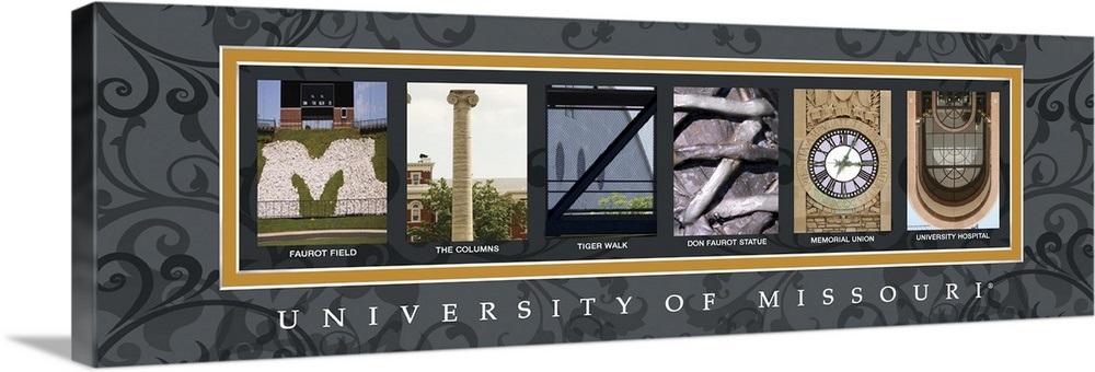 Mizzou - University of Missouri Campus Letters