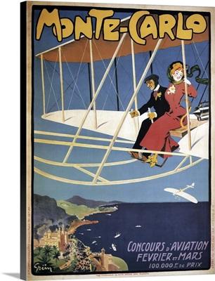 Monte Carlo Aviation Tours - Vintage Advertisement