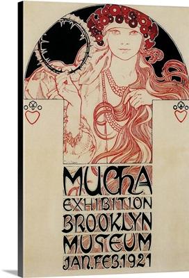 Mucha Brooklyn Exhibition - Vintage Advertisement
