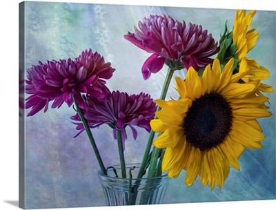 Mums and Sunflowers