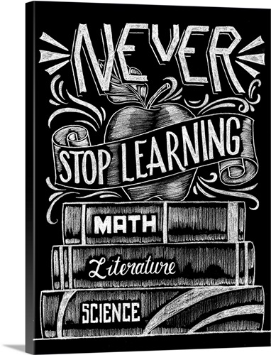 Beer-Art-print-Inspirational-Never-Stop-Learning-on-Paper-Canvas-Framed