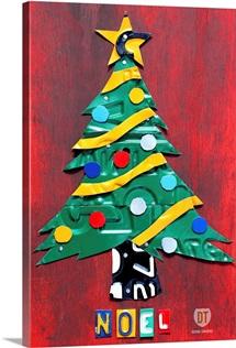 Noel Christmas Tree License Plate Art