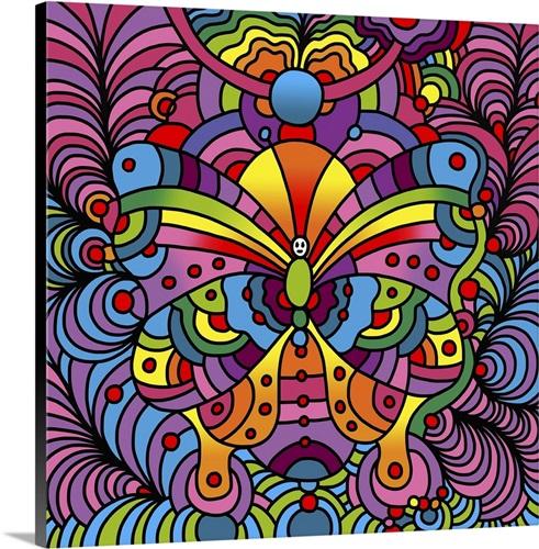 Pop Art Butterfly Wall Art, Canvas Prints, Framed Prints, Wall Peels ...