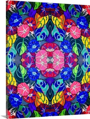 Pop Art Flowers Kaleidoscope