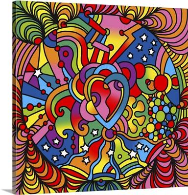 Pop Art Heart Swirls