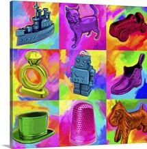 Pop Art Monopoly Pieces
