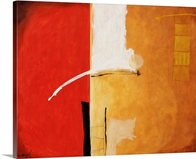 Red and Brown Abstract I