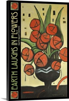 Roses In Vase Poster