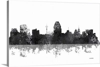San Antonio Texas Skyline BW I