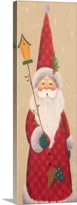 Santa holding a bird house